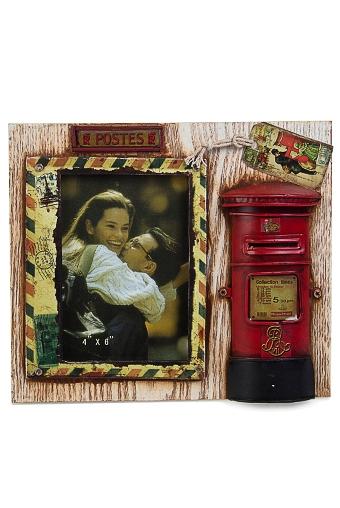 """Деревянные фоторамки Красный куб Рамка для фото """"Английская почта"""""""