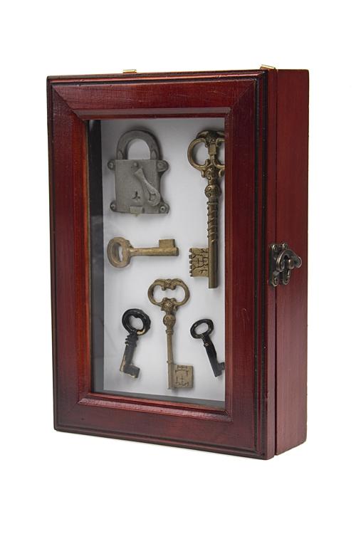 """Украшения на стену Красный куб Ящик для ключей """"Счастливые ключи"""""""