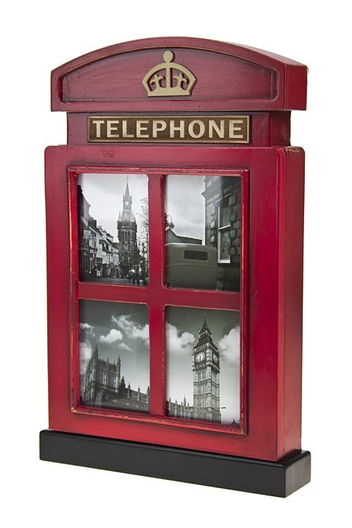 """Украшения на стену Красный куб Ящик для ключей """"Телефонная будка"""""""