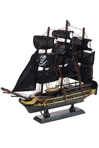 """Деревянные статуэтки Красный куб Украшение для интерьера """"Пиратский корабль"""""""