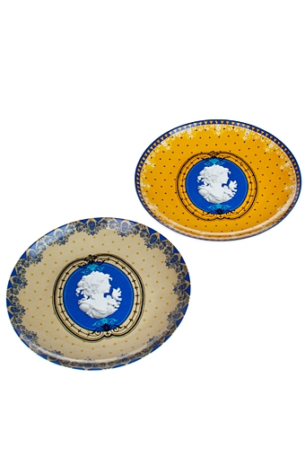 "Тарелки и пиалы Красный куб Набор тарелок декор. ""Изысканный медальон"""