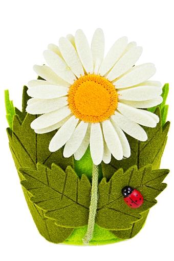 """Кашпо для цветов Красный куб Кашпо декоративное """"Летний сад"""""""