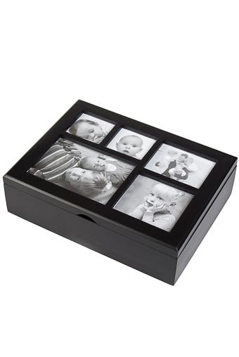 """Шкатулки для украшений Красный куб Шкатулка с рамкой для фото """"Стиль"""""""