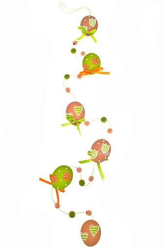 """Декоративные гирлянды и подвески Красный куб Сувенир-подвеска """"Гирлянда из яиц"""""""