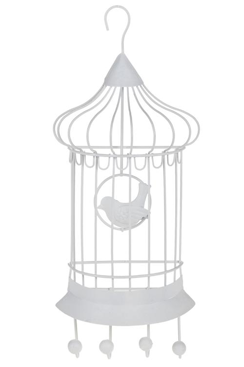 """Вешалки Красный куб Вешалка декоративная """"Клетка с птичкой"""""""