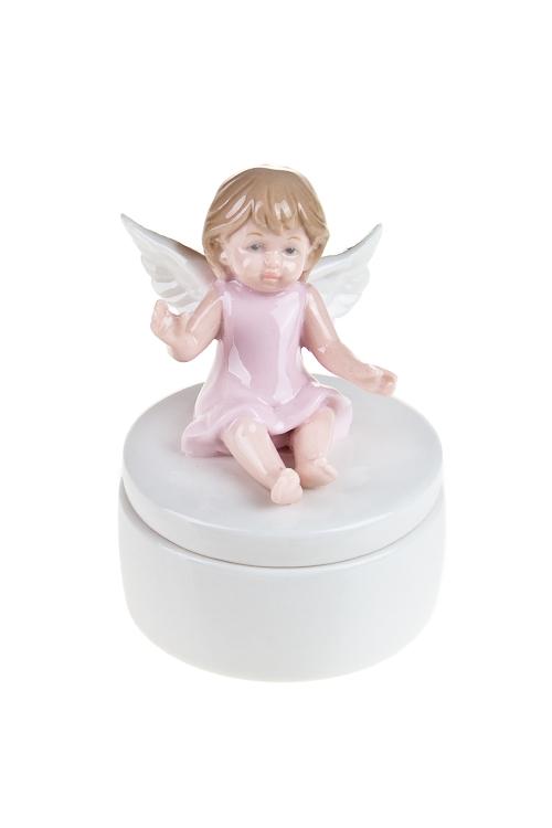 """Статуэтки Красный куб Шкатулка """"Малыш ангелочек"""""""