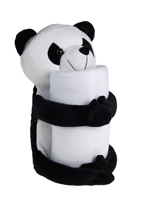 """Мягкие игрушки Красный куб Игрушка мягкая с пледом """"Панда"""""""