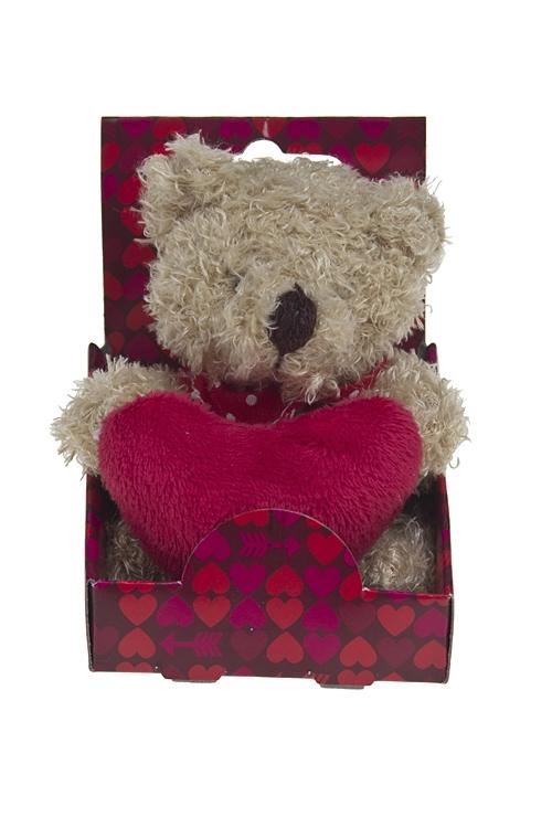 """Плюшевые игрушки Красный куб Игрушка мягконабивная """"Мишутка с сердечком в лапках"""""""