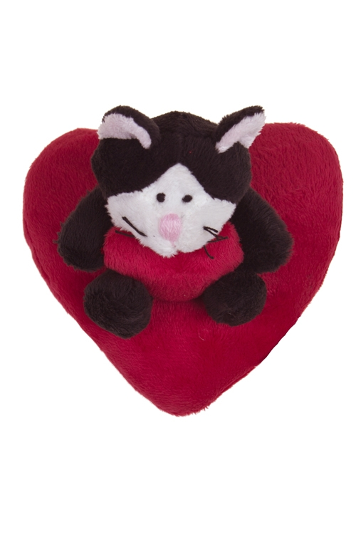"""Плюшевые игрушки Красный куб Игрушка мягконабивная """"Котик на сердце"""""""