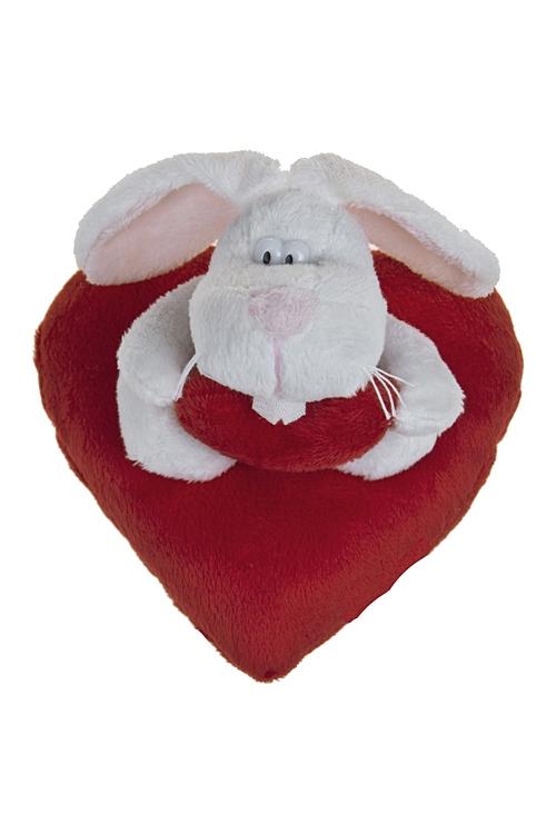 """Плюшевые игрушки Красный куб Игрушка мягконабивная """"Зайчик на сердце"""""""