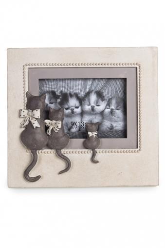 """Пластиковые фоторамки Красный куб Рамка для фото """"Любопытные котики с бантиками"""""""