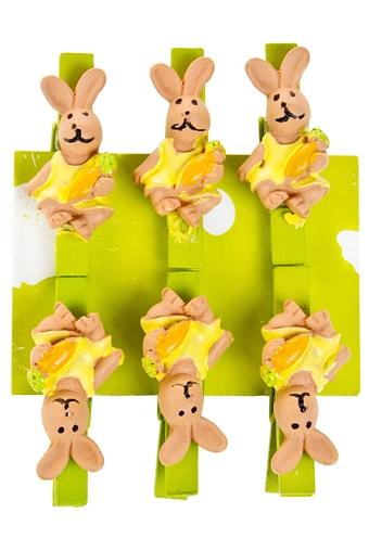 """Декоративные прищепки Красный куб Набор сувениров """"Зайка с морковкой"""""""