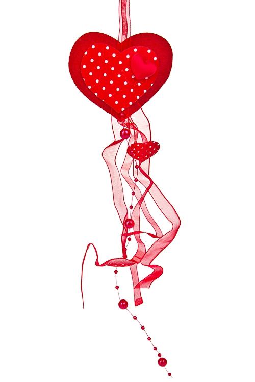 """Декоративные гирлянды и подвески Красный куб Украшение декоративное """"Танец сердец"""""""