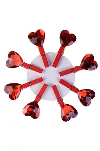 """Декоративные прищепки Красный куб Набор сувениров """"Нежное чувство"""""""
