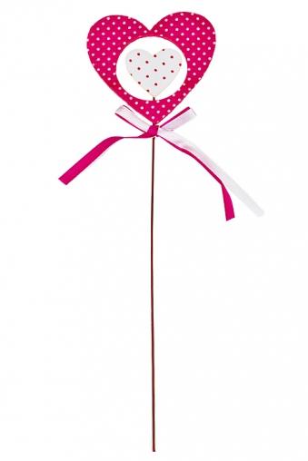 """Сувениры на палке Красный куб Украшение декоративное """"Сердце в сердце"""""""