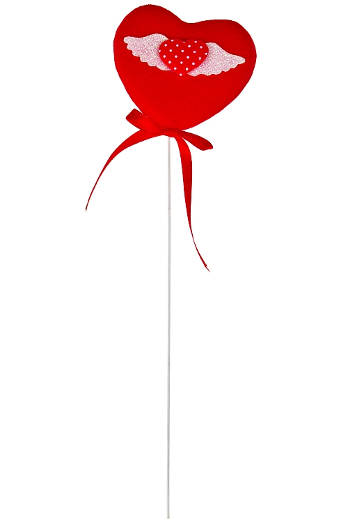 """Сувениры на палке Красный куб Украшение декоративное """"Сердце ангела"""""""