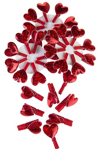 """Декоративные прищепки Красный куб Сувенир """"Страстное сердечко"""""""