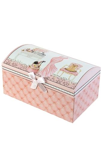 """Шкатулки для украшений Красный куб Шкатулка для ювелирных украшений """"Розовые мечты"""""""