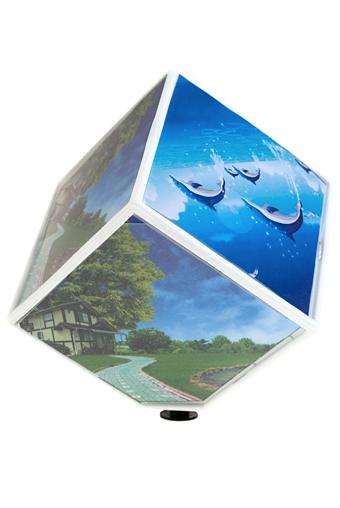 """Пластиковые фоторамки Красный куб Рамка для 6-ти фото """"Волшебный куб"""""""