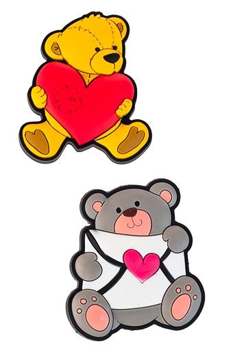 """Магниты Красный куб Набор держателей-магнитов """"Влюбленные медвежата"""""""