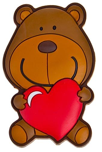 """Сувениры для женщин Красный куб Держатель-магнит """"Любвеобильный мишка"""""""