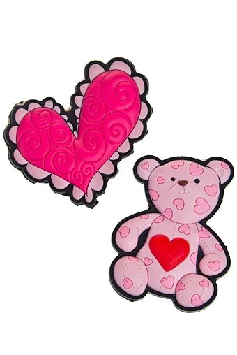 """Сувениры для женщин Красный куб Набор держателей-магнитов """"Мишка с сердцем"""""""