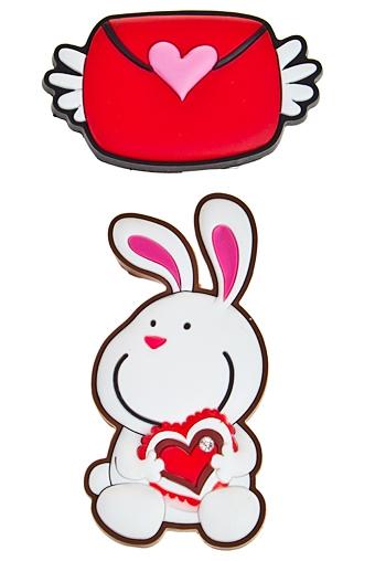 """Сувениры для женщин Красный куб Набор держателей-магнитов """"Письмо от зайки"""""""