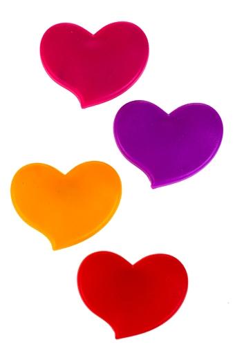 """Магниты Красный куб Набор держателей-магнитов """"Забавные сердца"""""""