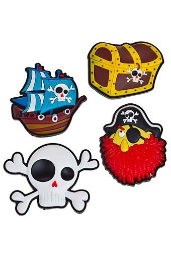 """Сувениры для женщин Красный куб Набор держателей-магнитов """"Настоящий пират"""""""
