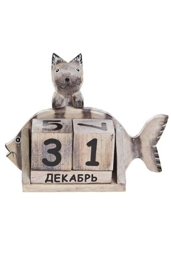 """Настольные календари Красный куб Календарь настольный """"Кот и рыбка"""""""