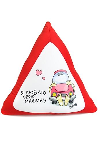 """Релаксанты Красный куб Игрушка мягкая """"Я люблю свою машину"""""""