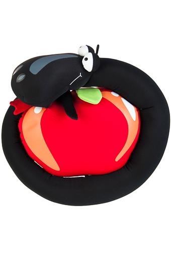 """Релаксанты Красный куб Игрушка мягкая """"Змея с яблоком"""""""