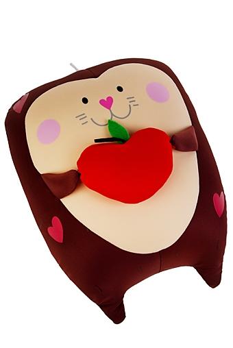 """Сувениры для мужчин Красный куб Игрушка мягконабивная """"Ежик с яблочком"""""""
