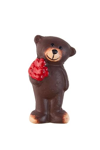 """Магниты Красный куб Держатель-магнит """"Медвежонок с сердечком"""""""