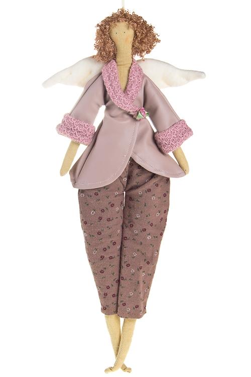 """Сувениры для женщин Красный куб Кукла мягконабивная """"Тильда - Розовый ангелочек"""""""