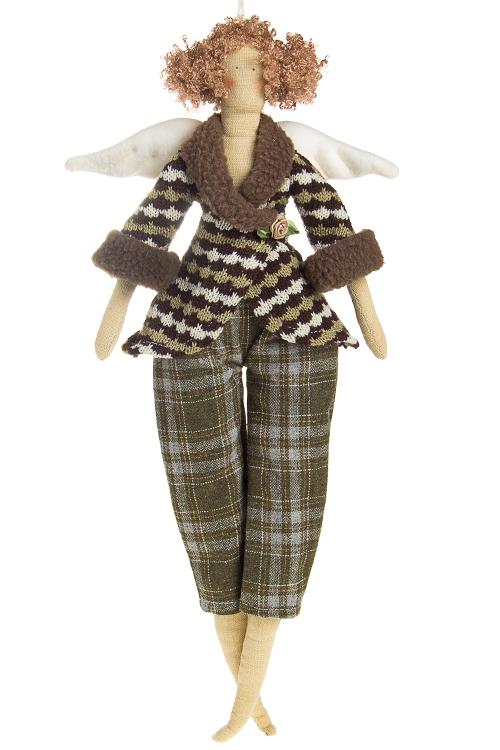 """Сувениры для женщин Красный куб Кукла мягконабивная """"Тильда - Ангелочек в свитерке"""""""