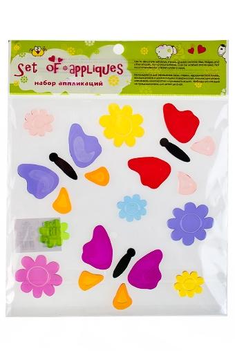 """Наклейки и аппликации Красный куб Набор аппликаций """"Бабочки в цветах"""""""