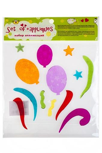 """Наклейки и аппликации Красный куб Набор аппликаций """"Воздушные шары"""""""