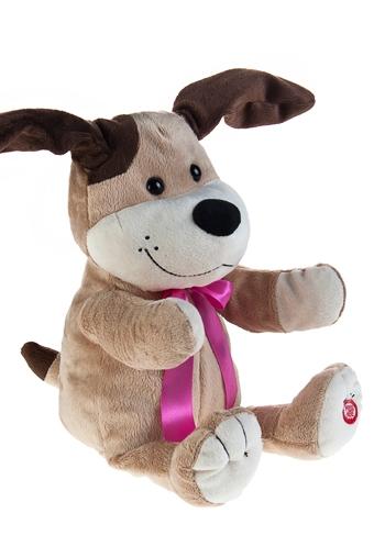 """Плюшевые игрушки Красный куб Игрушка мягкая музыкальная и двигающаяся """"Собака с бантом"""""""