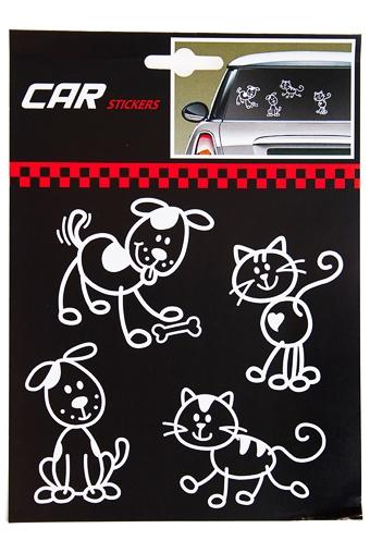 """Автомобильные знаки и подушки Красный куб Набор аппликаций """"Кошки и собаки"""""""