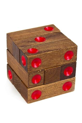 """Головоломки Красный куб Сувенир-головоломка """"Кубик"""""""