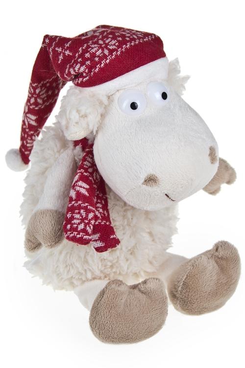 """Мягкие игрушки на Новый Год Красный куб Игрушка мягкая """"Зимняя овечка"""""""
