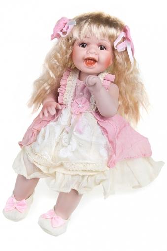 """Фарфоровые куклы Красный куб Кукла """"Веселая блондинка"""""""