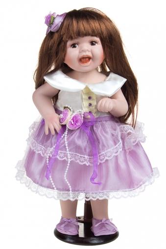 """Фарфоровые куклы Красный куб Кукла """"Шатенка в лиловом"""""""