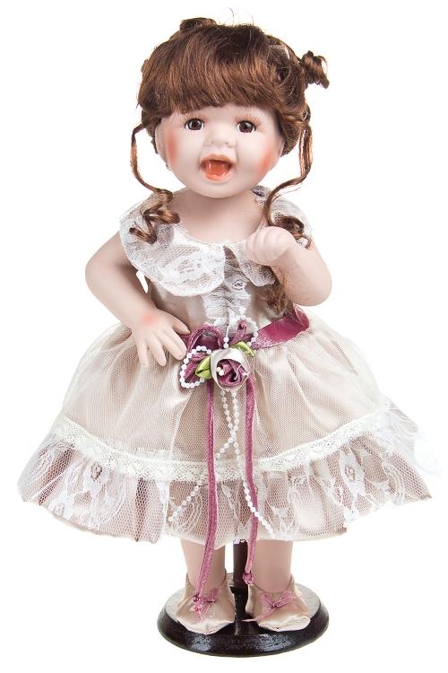 """Фарфоровые куклы Красный куб Кукла """"Шатенка в кремовом"""""""