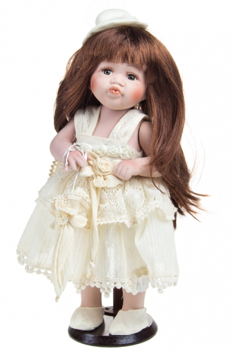 """Фарфоровые куклы Красный куб Кукла """"Красавица в шляпке с зонтиком"""""""