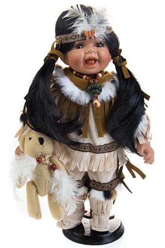 """Фарфоровые куклы Красный куб Кукла """"Маленькая индианка"""""""