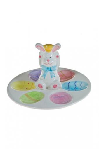 """Подставки для яиц Красный куб Блюдо для яиц """"Веселый заяц"""""""
