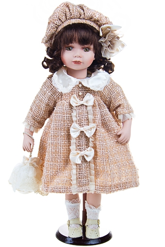 """Фарфоровые куклы Красный куб Кукла """"Очаровательная Бекки в беретке"""""""