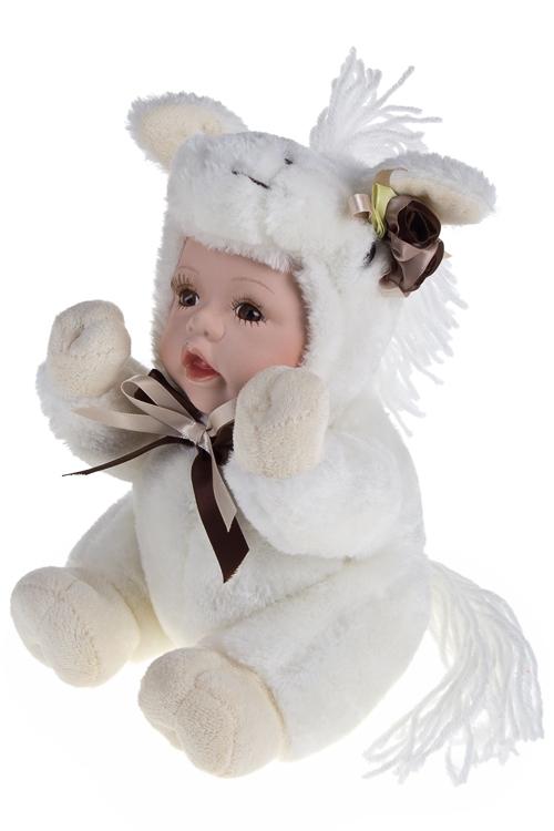 """Плюшевые игрушки Красный куб Кукла мягконабивная """"Маленькая лошадка"""""""